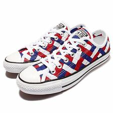 Converse Chuck Taylor All Star White Blue Red Woven Unisex Casual Shoes 151241C