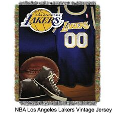 NBA Los Angeles Lakers Woven Tapestry Throw. Delivery is Free