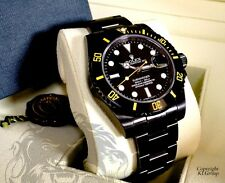 Black ROLEX Submariner KingsLife Limited GIALLO YELLOW Edition DLC / PVD  116610