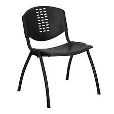 Pansy Black Contoured Modern Design Stack Chairs. Delivery is Free
