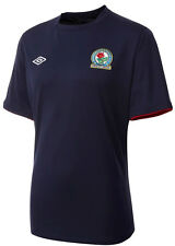 BLACKBURN ROVERS S/S (XL,L) NAVY BLUE 2012/13 UMBRO SOCCER FOOTBALL SHIRT JERSEY