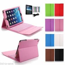 Rotating Stand Leather Case Cover With Bluetooth Keyboard For Apple iPad 4 3 2