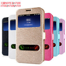Synthetic Leather Stand Flip Case Cover for Samsung Galaxy Note 2 II 3 III N9000