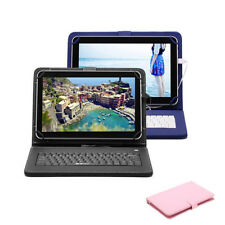 "iRULU 10.1"" Google Android 6.0 Tablet PAD 1GB 8GB Quad Core Bundle Case Keyboard"