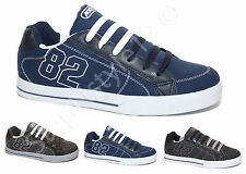 MENS DOUBLE LACE SKATE BASEBALL DANCE CANVAS TRAINERS SHOES!!!