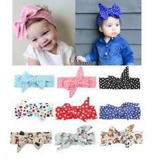 Cute Kids Baby Girls Toddler Bowknot Headband Hair Band Turban Hair Accessories