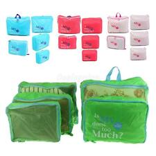 5Pcs Clothes Socks Storage Bags Packing Cube Travel Luggage Organizer Holder