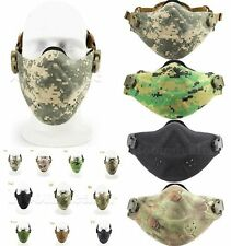 Tactical Airsoft Half Face Mask Outdoor Activity Hunting Game Nylon Fabric Foam