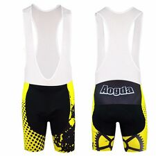 Compression Mens Cycling bib shorts Biking Bibs GEL Padded Cycling Bibs Spandex