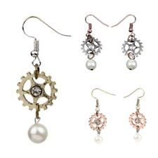 Fashion Steampunk Lady Women Elegant Long Drop Ear Dangle Earrings Jewelry Gift
