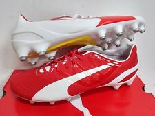 BNWT PUMA evoSPEED 1.3 FG FOOTBALL SOCCER BOOTS TOP GRADE   White/Red