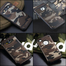 BROWN Camouflage iPhone Galaxy Military Case Camo Army 4 5 6 6 7 8 Plus Rubber