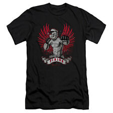 Popeye Men's  Undefeated Slim Fit T-shirt Black Rockabilia
