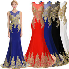 MERMAID Long Prom Dress Bridesmaid Formal Evening Gowns Wedding Party 4 8 12 14+