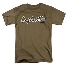 Eureka Men's  Caf? Diem T-shirt Green Rockabilia