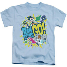 Teen Titans Go Boys' Go Childrens T-shirt Blue Rockabilia