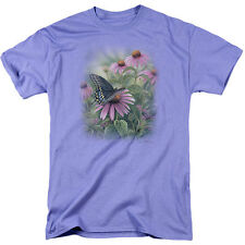 Wildlife Men's  Black Swallowtail Butterfly T-shirt Purple Rockabilia