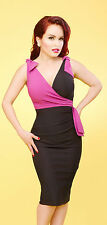 Stop Staring! - Black & Fuscia Lilian Wiggle Dress.  New With Several Sizes.