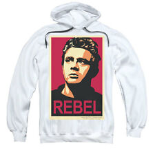 James Dean Men's  Rebel Campaign Hooded Sweatshirt White Rockabilia