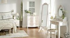 French Vintage Shabby Chic Bedroom Set-Bedsides, Drawer Chests, Dressing Table