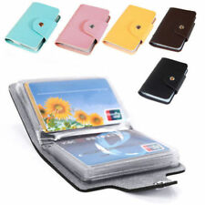 Unisex Pu Leather Pocket Business Credit ID Card Holder Wallet for 24 Cards Gift