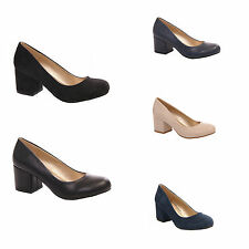 LADIES WOMENS FORMAL OFFICE WORK COURT BLOCK HEEL STYLE EVERYDAY SHOES SIZE