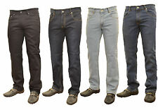 NEW MENS STRAIGHT LEG DARK BLUE JEANS ALL WAIST SIZES SLIM FIT REGULAR COMFORT