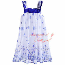 Children Girl's Flower Dress Summer Holiday Floral Dresses Kids Clothes 3-8Years
