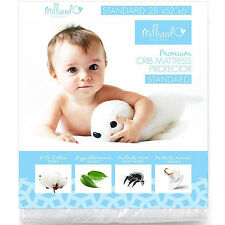 Toddler Bed Mattress Protector Soft Waterproof Cotton Noiseless Crib Cover