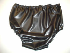 Latex baby san pants black rubber sissy adult size