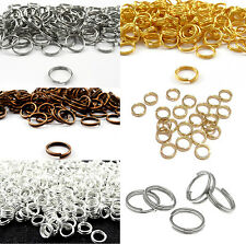 Wholesale Silver/Gold Open Double Split Jump Rings Connectors Makings 7 Sizes