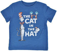 Dr. Seuss Toddlers T-Shirt Heather Royal Blue Cat in the Hat Thing 1 2 Fish