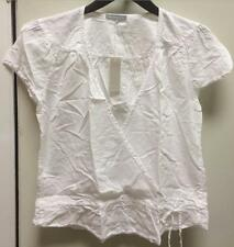 James Perse Women's Bohemian White Blouse- white  WLC3288 jog string sz 1 2 3 4