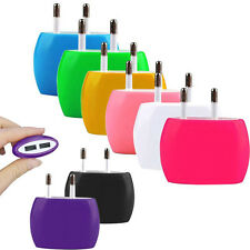 Dual USB 2 Ports Home Wall Travel AC Power Charger Adapter For iPhone Samsung