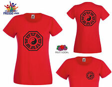 """Bagua Symbol - FRUIT OF THE LOOM T-Shirt """"Lady Fit Valueweight T"""" - Flexdruck"""