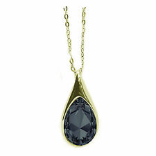 Crystal Drop Gold Plated Necklace Made with SWAROVSKI® Crystals