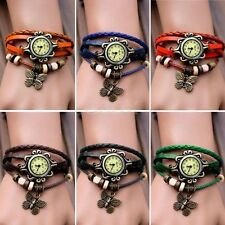 Girl Women  Butterfly Bracelet Wrap Watch Quartz Movement Wrist Watch