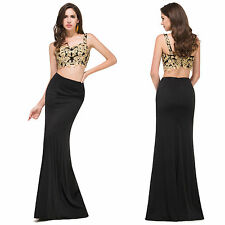 Sexy Two Piece Long Evening Cocktail Club Dress Party Pageant Formal Prom Gown