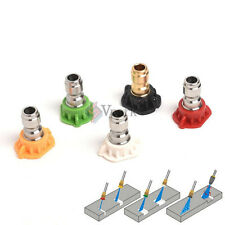 "1/4"" Quick Connect Pressure Washer Spray Nozzle 5 Pack Tip Set Variety Degrees v"