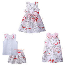 Toddler Summer Flower Girl Dress Baby Kids Princess Birthday Christening Recital