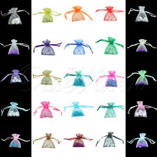 100 H Shape Strong Organza Pouch 5x7cm Colors Small Wedding Favor Gift Candy Bag