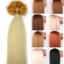 "New 20""100S Pre Bonded U/NAIL Kertain Tip Remy Human Hair Extensions Straight"