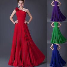 Women Bridesmaid Dress Ruffles Formal Evening Party Cocktail Long Maxi Prom Gown