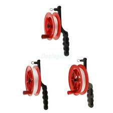 Outdoor Play Red Fire Kite Grip Reel Winder Wheel Handle Tool W/ Twisted String