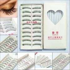 10Pairs New Makeup Handmade Natural Fake Long False Eyelashes Eye Lashes 09iuh