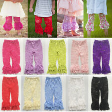 Baby Girls Toddler Kids Lace Ruffle Leggings Stockings Trousers Pants SZ 1-6Y