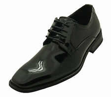 Mens Franazi Patent Leather Dress Shoes Formal Tuxedo Wedding Oxfords Prom Black