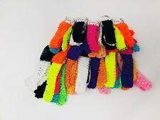 Wholesale 20 pcs Girls Baby Crochet Headband With 1 inch Acrylic choose color.