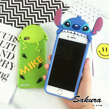 3D cool Cartoon Mike Stitch Silicone soft back case cover for iphone 7 6 6S plus