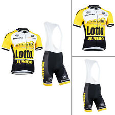 Men's Road Bike Team Bicycle 3 Pockets Jerseys Bib Shorts Cycling Gear Soft Wear